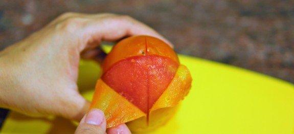 descascar tomate