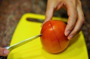 Retirar a pele do tomate