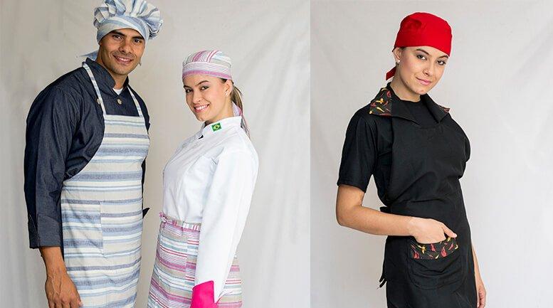 Aventais e uniformes para restaurantes